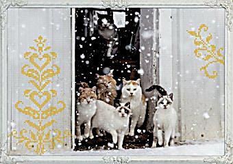 Wand adventskalender katzen wintertr ume for Ka che deko wand