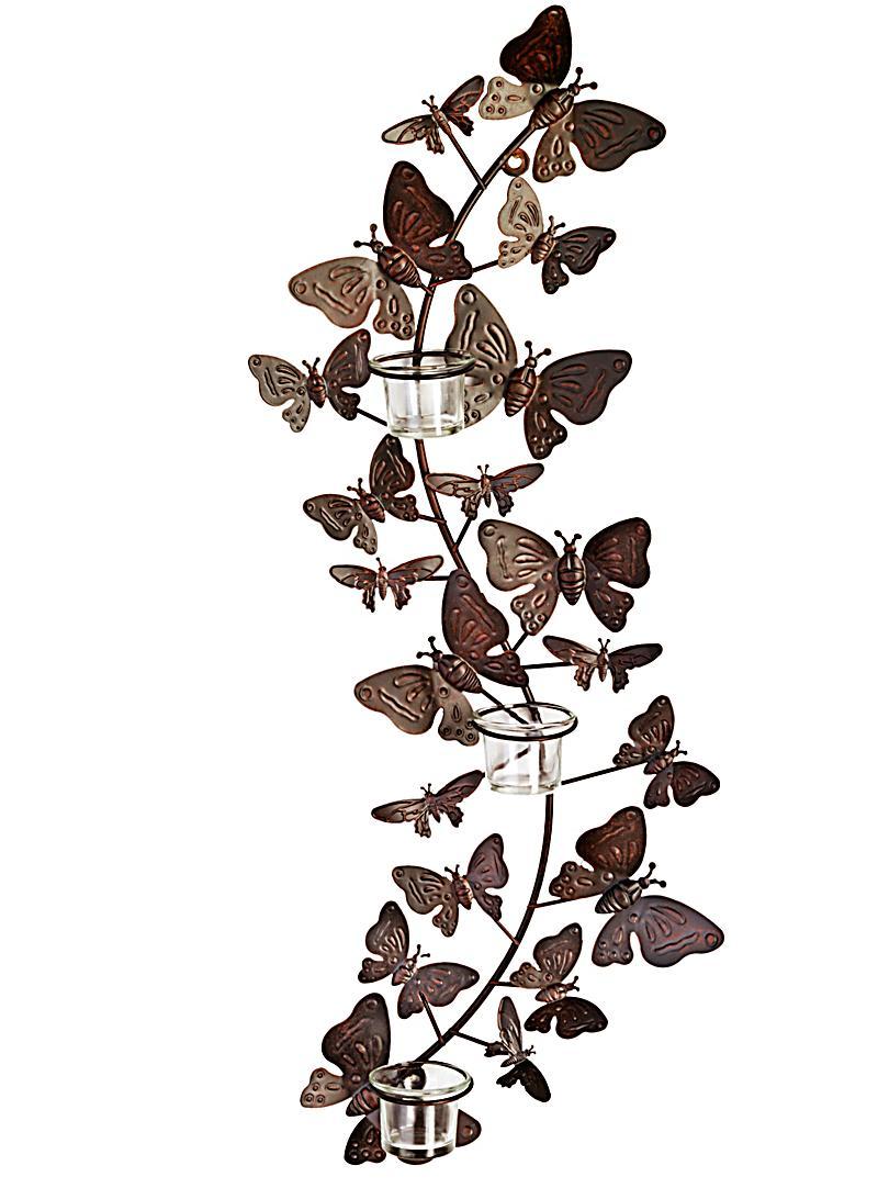 wand teelichthalter papillon jetzt bei bestellen. Black Bedroom Furniture Sets. Home Design Ideas