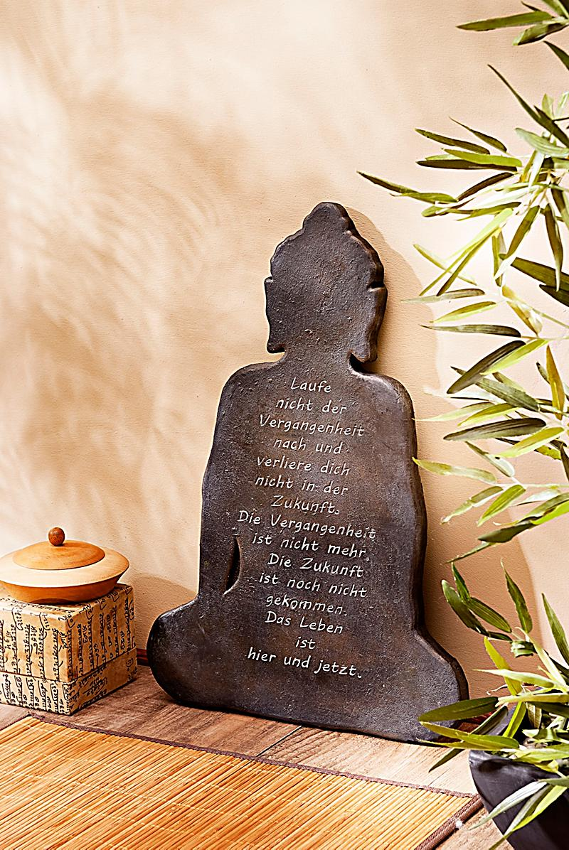 wandbild buddha mit spruch jetzt bei bestellen. Black Bedroom Furniture Sets. Home Design Ideas