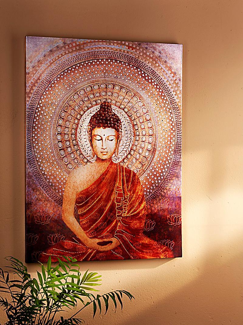 Wandbild shining buddha jetzt bei bestellen for Buddha bestellen