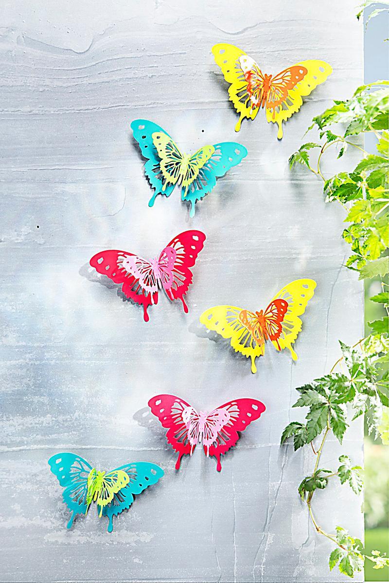 Wanddeko butterfly 6er set jetzt bei bestellen for Wanddeko aussenbereich