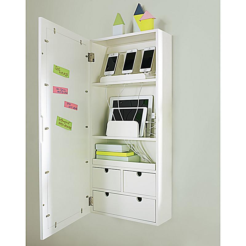 wandladestation mit bilderrahmen pictures wei. Black Bedroom Furniture Sets. Home Design Ideas