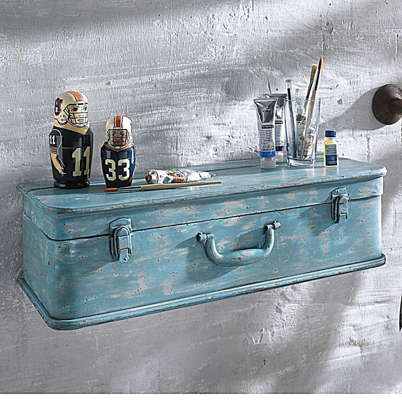 wandregal koffer blau jetzt bei bestellen. Black Bedroom Furniture Sets. Home Design Ideas