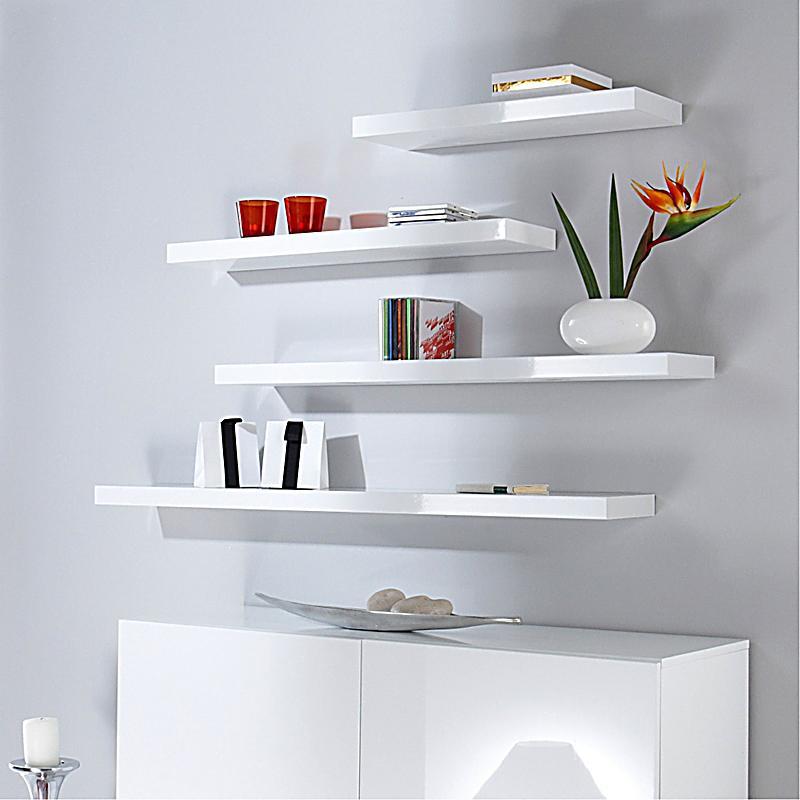 wandregal set gloss 2 teilig l nge 60 cm. Black Bedroom Furniture Sets. Home Design Ideas