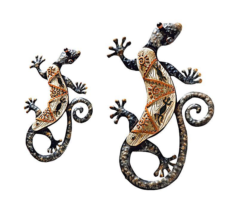 Wandschmuck gecko 2er set jetzt bei bestellen - Wandschmuck metall ...