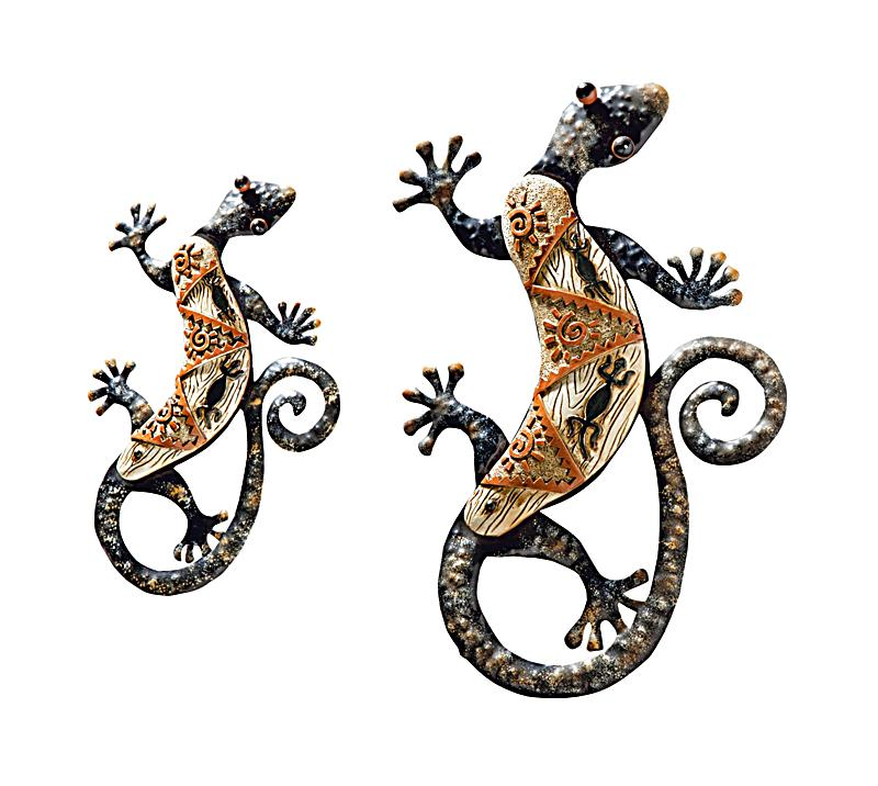 wandschmuck gecko 2er set jetzt bei bestellen. Black Bedroom Furniture Sets. Home Design Ideas