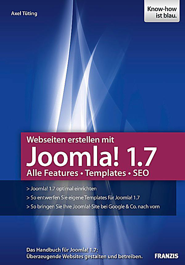web programmierung webseiten erstellen mit joomla 1 7 ebook. Black Bedroom Furniture Sets. Home Design Ideas