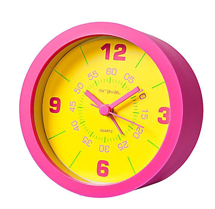 wecker mit 3 silikonh llen zum wechseln farbe gelb gr n pink. Black Bedroom Furniture Sets. Home Design Ideas