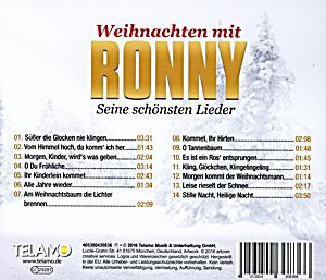 weihnachten mit ronny seine sch nsten lieder cd bei. Black Bedroom Furniture Sets. Home Design Ideas