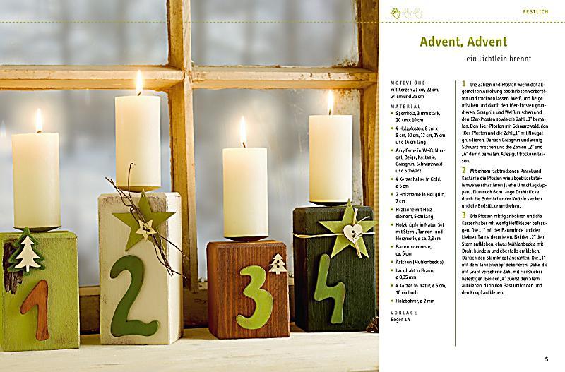 Weihnachtliche Holzpfosten Buch bei Weltbildde online