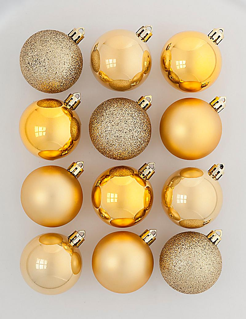 weihnachtskugeln gold 12er set jetzt bei bestellen. Black Bedroom Furniture Sets. Home Design Ideas
