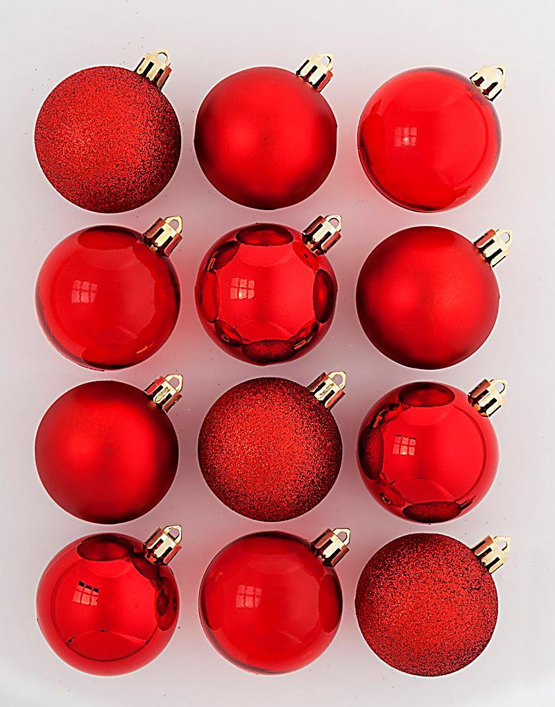 weihnachtskugeln rot 12er set jetzt bei bestellen. Black Bedroom Furniture Sets. Home Design Ideas