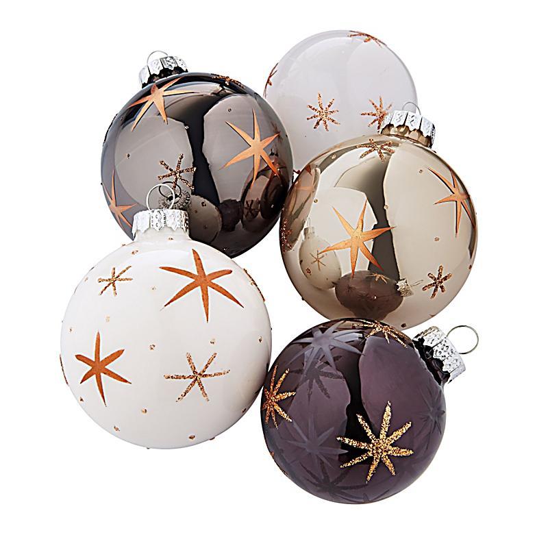 weihnachtskugeln set stars 5 tlg jetzt bei bestellen. Black Bedroom Furniture Sets. Home Design Ideas