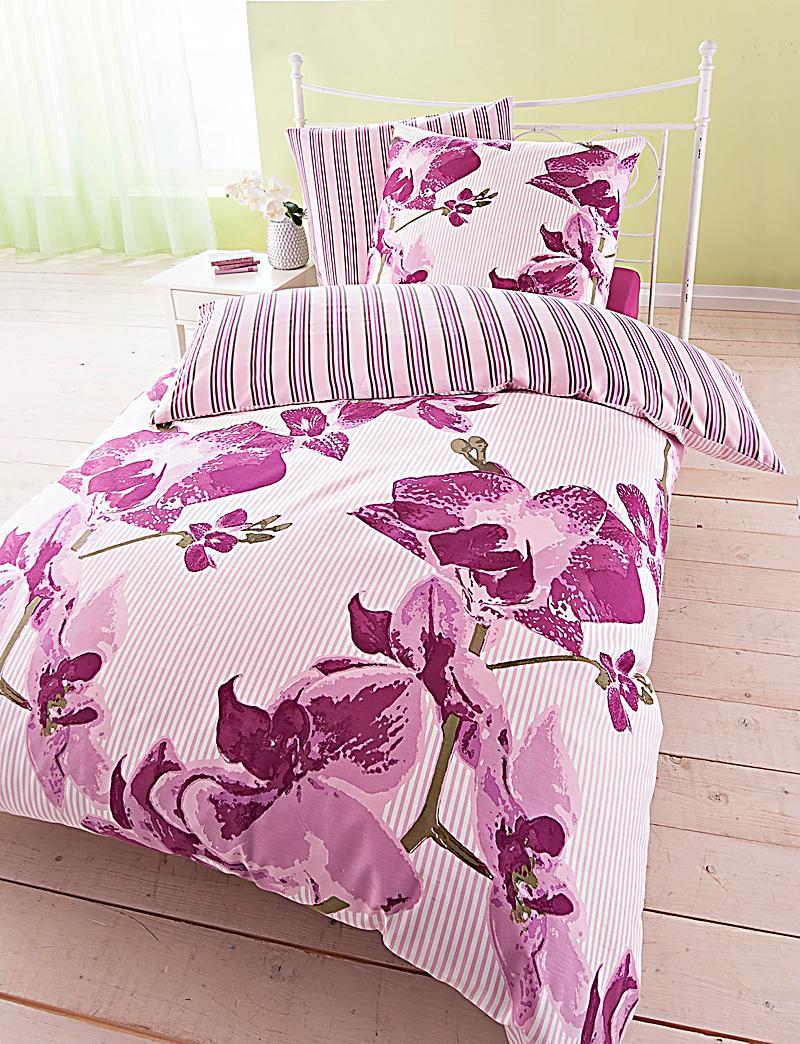 wendebettw sche orchidee gr e 135 x 200 cm. Black Bedroom Furniture Sets. Home Design Ideas