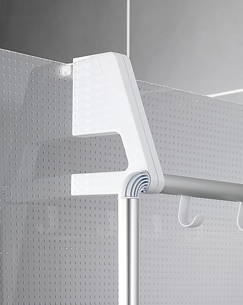 wenko handtuchhalter fr tr und duschkabine compact mit 3 querstangen produktdetailbild 3 - Wenko Handtuchhalter Dusche