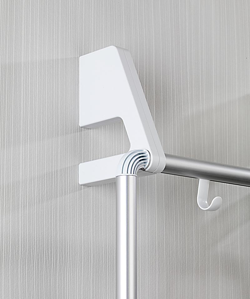wenko handtuchhalter fr tr und duschkabine compact mit 3 querstangen produktdetailbild 5 - Wenko Handtuchhalter Dusche