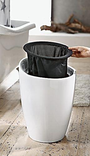 wenko hocker candy white badhocker mit abnehmbarem w schesack. Black Bedroom Furniture Sets. Home Design Ideas