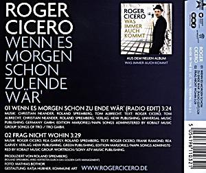 Roger Cicero Wenn Es Morgen Schon Zu Ende Wär