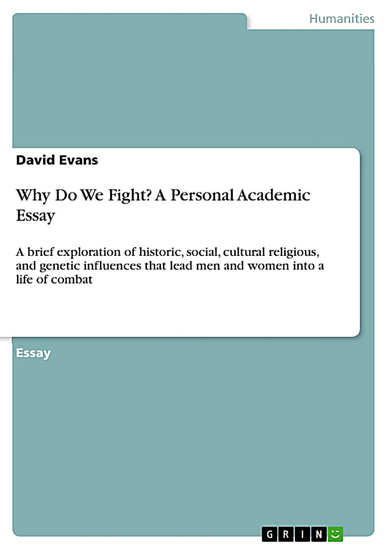 personal academic essay However, academic essays differ from personal essays they are typically  researched and use a formal tone because of these differences,.