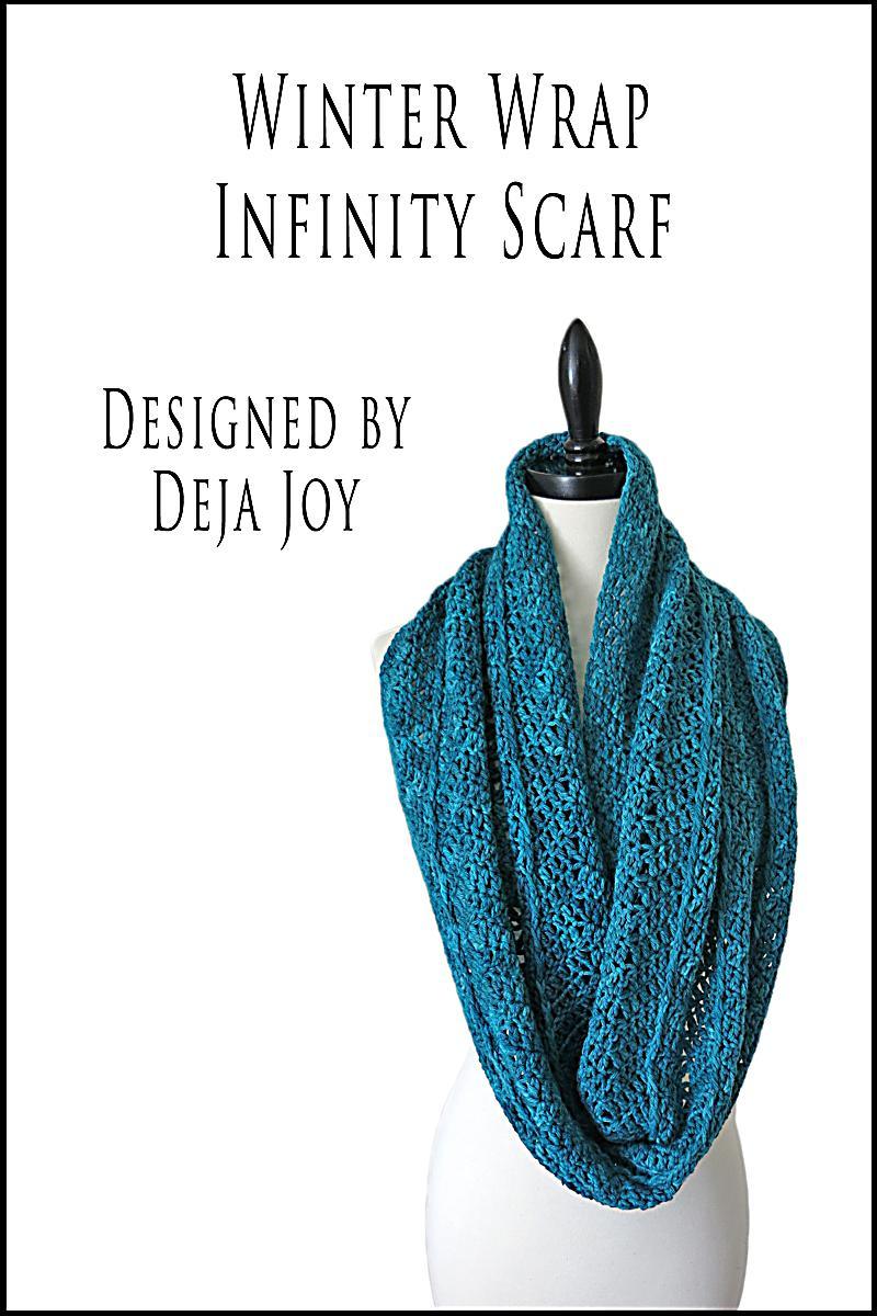 Winter Bohemian Infinity Scarf Pattern-CAL