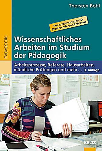 wissenschaftliches arbeiten im studium der p dagogik