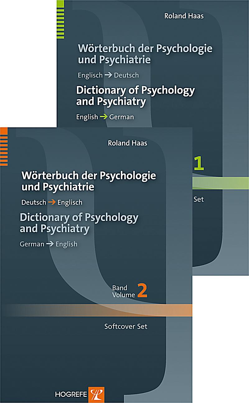 W rterbuch der psychologie und psychiatrie dictionary of for Dictionary englisch deutsch
