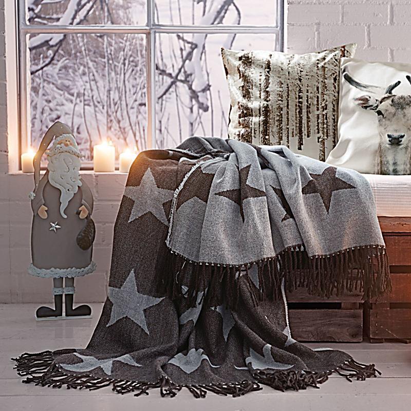 wohndecke sterne braun jetzt bei bestellen. Black Bedroom Furniture Sets. Home Design Ideas