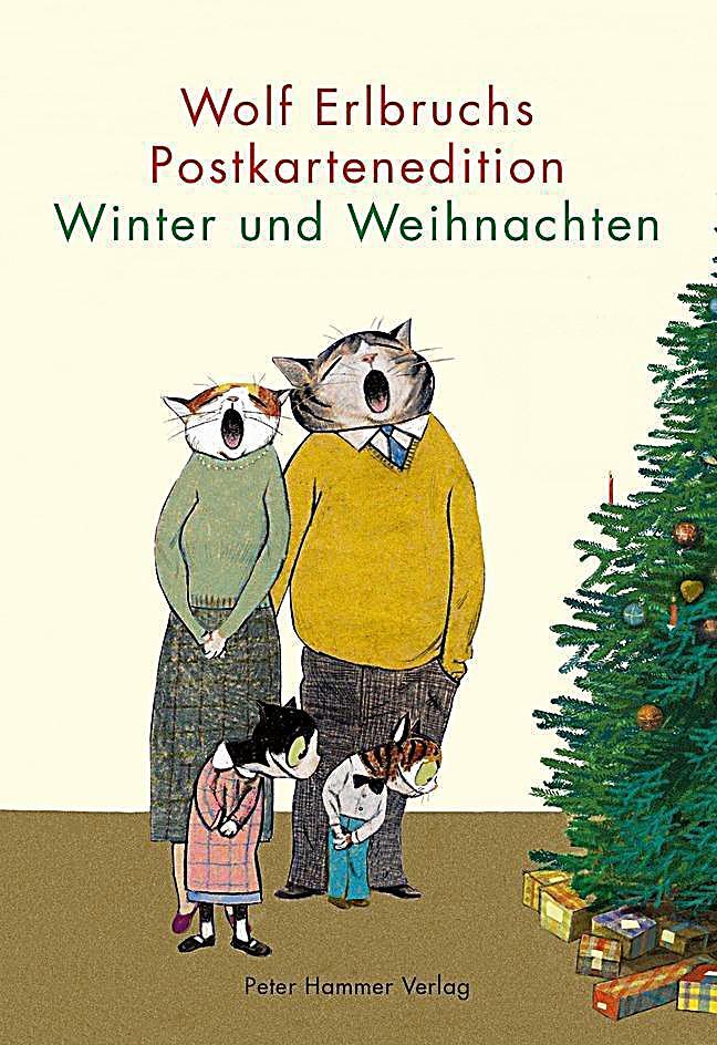 wolf erlbruchs postkartenedition winter und weihnachten. Black Bedroom Furniture Sets. Home Design Ideas