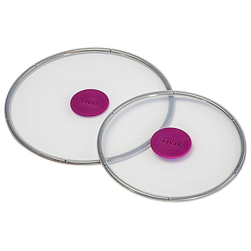 xavax frischhaltedeckel set aus silikon 2 st ck rund 20 cm 24 cm transparent bei weltbild. Black Bedroom Furniture Sets. Home Design Ideas