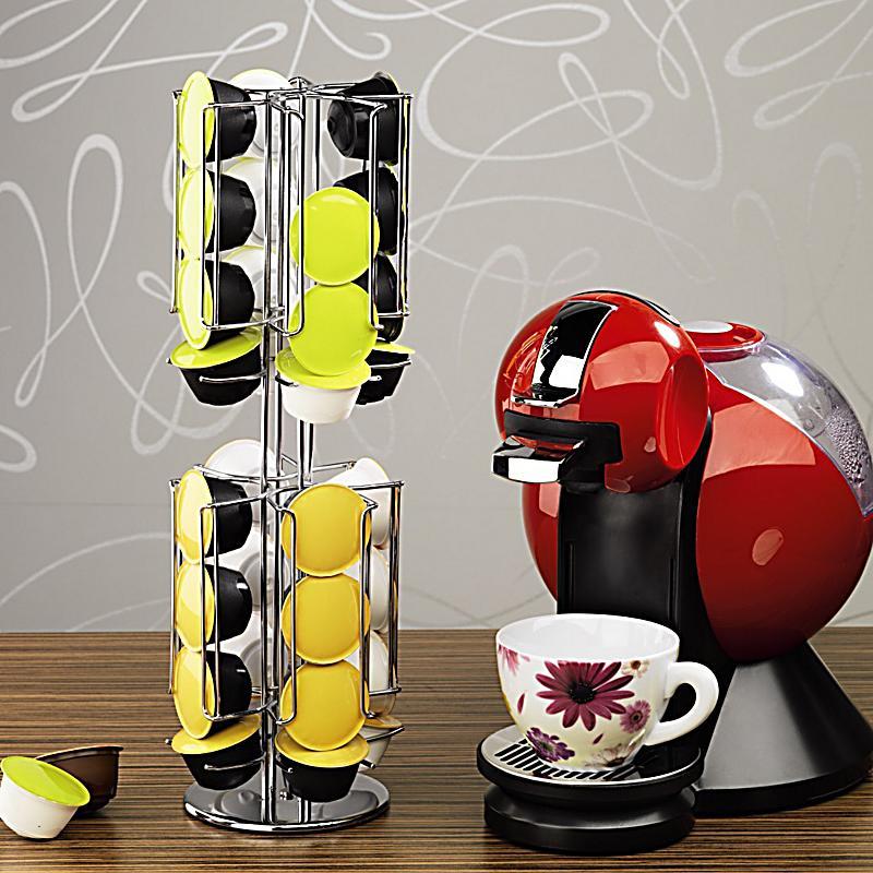 xavax kaffee kapselst nder rondello f r dolce gusto silber verchromt. Black Bedroom Furniture Sets. Home Design Ideas