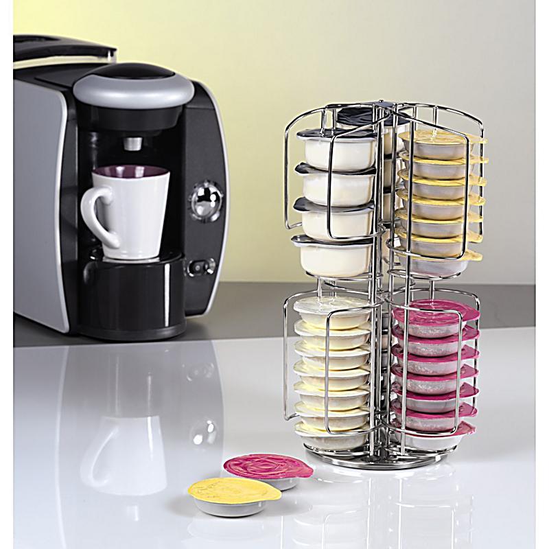 xavax kaffee kapselst nder rondello f r tassimo 48 silber verchromt. Black Bedroom Furniture Sets. Home Design Ideas