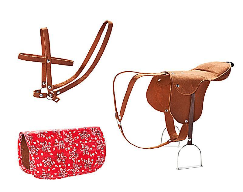 xl pferd mit sattel und decke jetzt bei bestellen. Black Bedroom Furniture Sets. Home Design Ideas