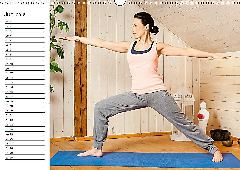 yoga ganz einfach zuhause wandkalender 2018 din a3 quer kalender bestellen. Black Bedroom Furniture Sets. Home Design Ideas