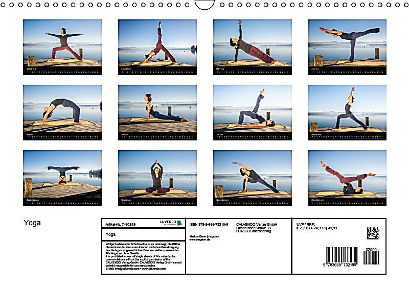 yoga wandkalender 2018 din a3 quer kalender bei. Black Bedroom Furniture Sets. Home Design Ideas