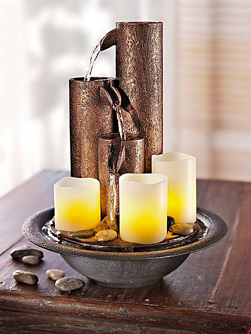 zimmerbrunnen mit led kerzen jetzt bei bestellen. Black Bedroom Furniture Sets. Home Design Ideas