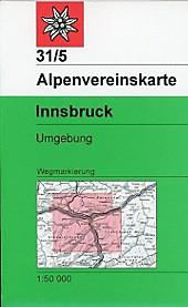 Alpenvereinskarte Innsbruck, Umgebung.  - Buch