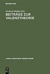 Beiträge zur Valenztheorie - eBook