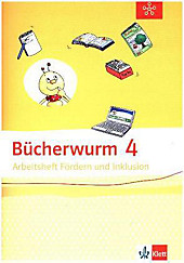 Bücherwurm Sprachbuch, Allgemeine Ausgabe: 4. Schuljahr, Arbeitsheft Fördern und Inklusion