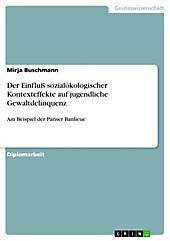 Der Einfluß sozialökologischer Kontexteffekte auf jugendliche Gewaltdelinquenz am Beispiel der Pariser Banlieue - eBook - Mirja Buschmann,
