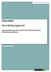 Der Labeling Approach - eBook - Rainer Wolff,
