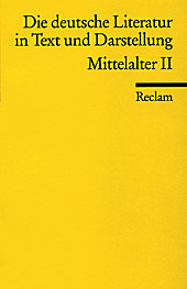 Die deutsche Literatur in Text und Darstellung, Mittelalter.  - Buch