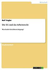 Die EG und das Arbeitsrecht - eBook