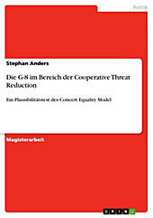Die G-8 im Bereich der Cooperative Threat Reduction - eBook - Stephan Anders,
