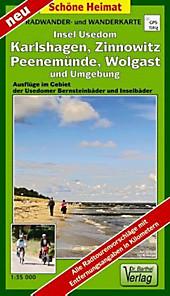 Doktor Barthel Karte Insel Usedom, Wolgast, Karlshagen, Zinnowitz und Umgebung