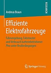 Effiziente Elektrofahrzeuge. Andreas Braun, - Buch - Andreas Braun,