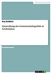 Entwicklung des Gemeinschaftsgefühls in Großstädten - eBook - Kay Raddatz,