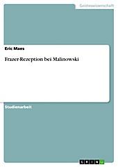 Frazer-Rezeption bei Malinowski - eBook - Eric Maes,