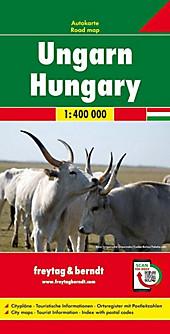 Freytag & Berndt Autokarte Ungarn; Magyarország. Hongarije. Hungary. Hongrie. Ungheria.  - Buch