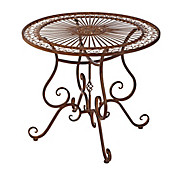 Gartentisch Versailles, Metall, antik-braun, 85cm