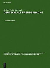 Handbücher zur Sprach- und Kommunikationswissenschaft: 19/2 Deutsch als Fremdsprache. 2. Halbband - eBook - Lutz Götze, Gerhard Helbig, Gert Henrici,